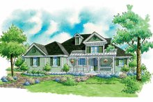 Architectural House Design - Victorian Exterior - Front Elevation Plan #930-185
