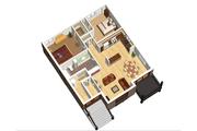 European Style House Plan - 6 Beds 3 Baths 3369 Sq/Ft Plan #25-4355