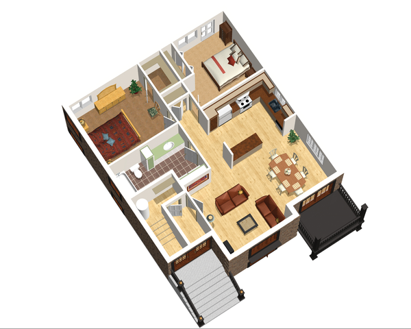 European Floor Plan - Main Floor Plan Plan #25-4355