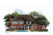 House Plan Design - Mediterranean Exterior - Rear Elevation Plan #952-185