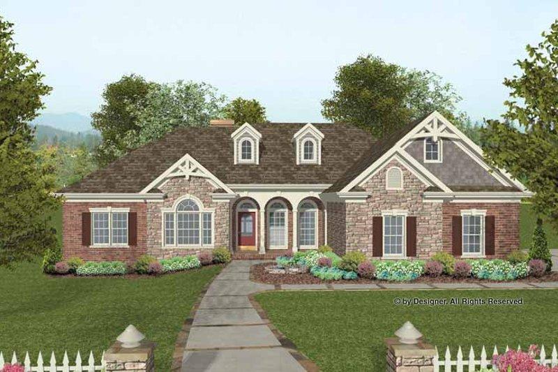 House Plan Design - Craftsman Exterior - Front Elevation Plan #56-687