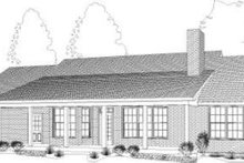 Farmhouse Exterior - Rear Elevation Plan #406-126