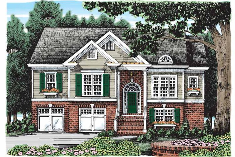 Colonial Exterior - Front Elevation Plan #927-912
