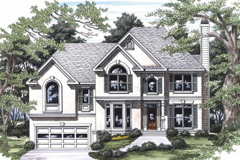 Traditional Exterior - Front Elevation Plan #927-453 - Houseplans.com