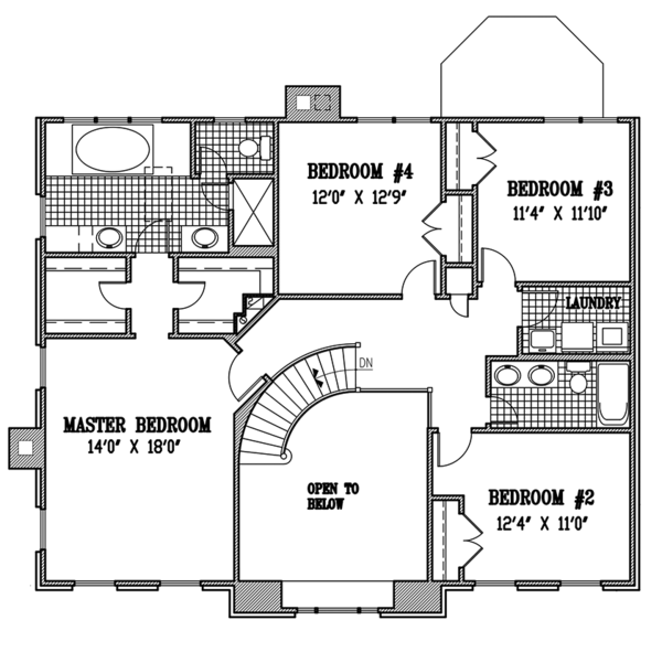 Country Floor Plan - Upper Floor Plan Plan #953-55