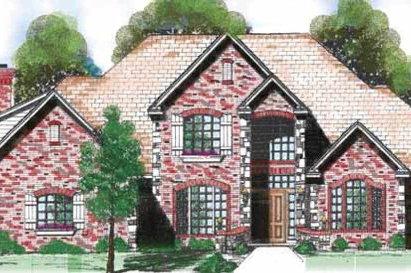 Architectural House Design - Traditional Exterior - Front Elevation Plan #52-273