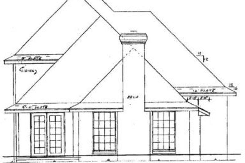 Traditional Exterior - Rear Elevation Plan #52-123 - Houseplans.com