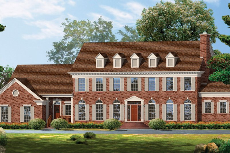 Classical Exterior - Front Elevation Plan #72-857 - Houseplans.com
