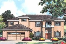 Architectural House Design - Country Exterior - Front Elevation Plan #1015-52