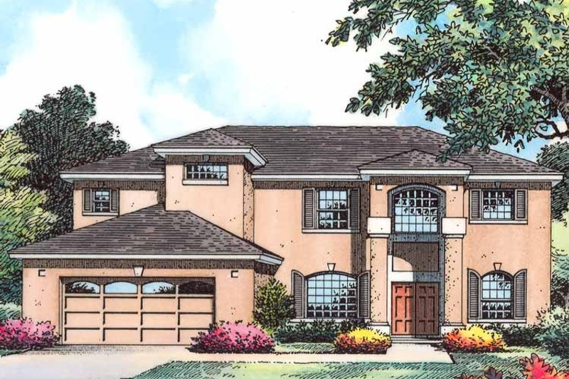 Country Exterior - Front Elevation Plan #1015-52 - Houseplans.com