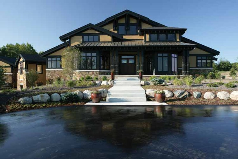 Prairie Exterior - Front Elevation Plan #928-62 - Houseplans.com