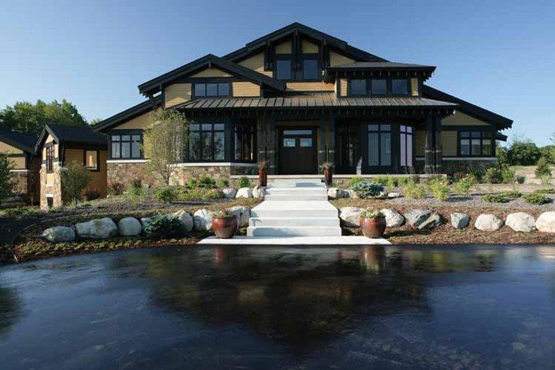 Architectural House Design - Prairie Exterior - Front Elevation Plan #928-62