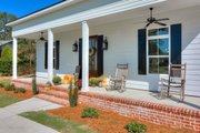 Craftsman Style House Plan - 3 Beds 2 Baths 1908 Sq/Ft Plan #44-235 Exterior - Covered Porch