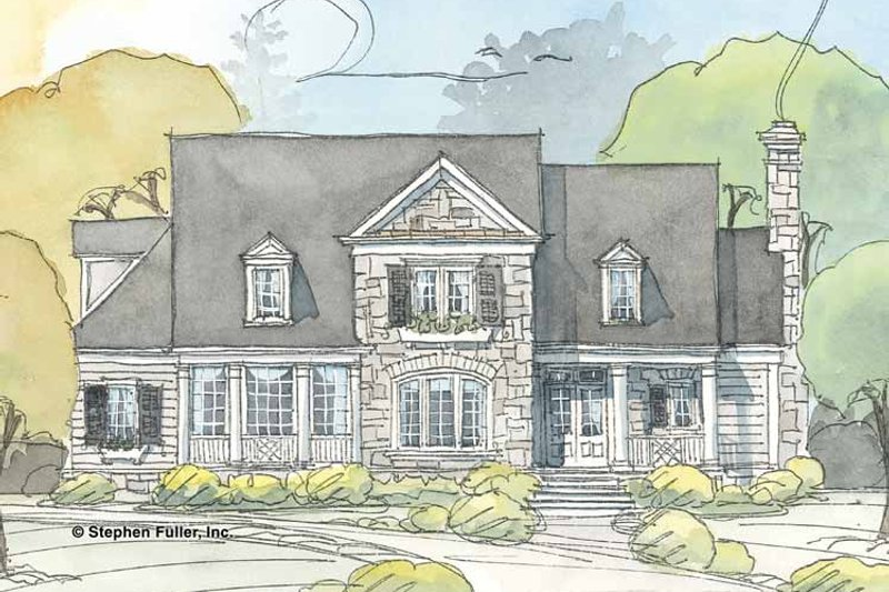 Country Exterior - Front Elevation Plan #429-372 - Houseplans.com