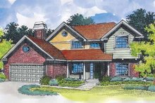 Dream House Plan - Traditional Exterior - Front Elevation Plan #320-542