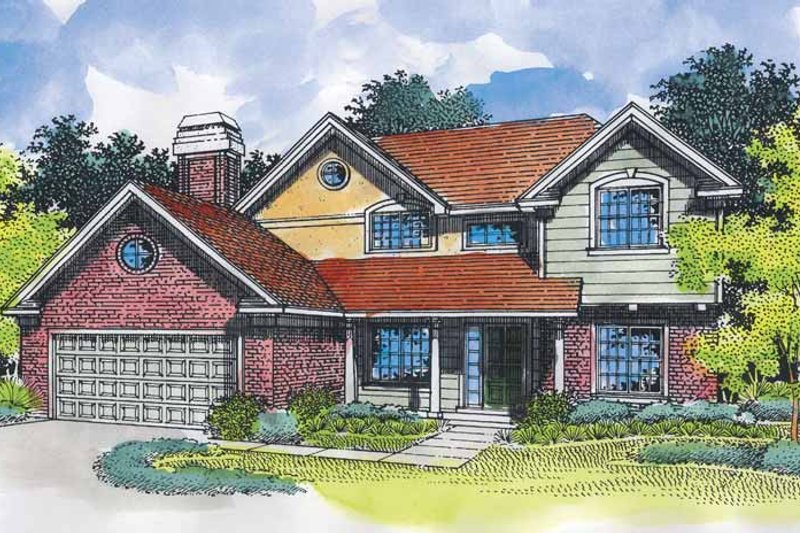 Traditional Exterior - Front Elevation Plan #320-542 - Houseplans.com
