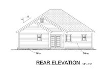 House Plan Design - Traditional Exterior - Rear Elevation Plan #513-9