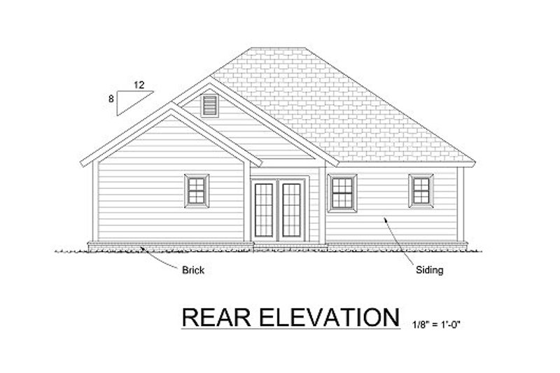 Traditional Exterior - Rear Elevation Plan #513-9 - Houseplans.com