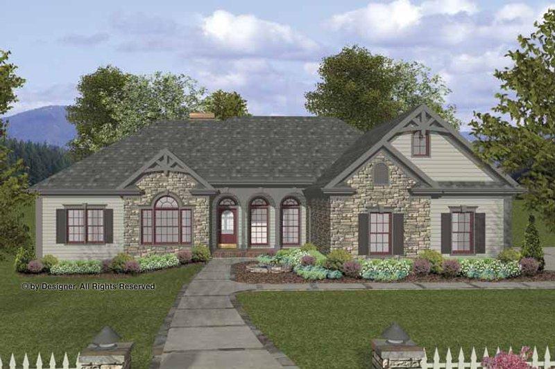 Craftsman Exterior - Front Elevation Plan #56-690 - Houseplans.com