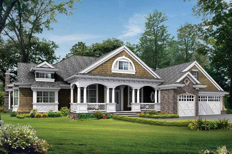 Craftsman Exterior - Front Elevation Plan #132-278 - Houseplans.com
