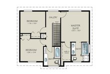 Country Floor Plan - Upper Floor Plan Plan #427-3