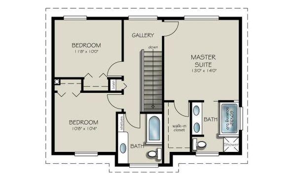 House Plan Design - Country Floor Plan - Upper Floor Plan #427-3