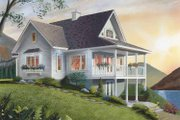 Country Style House Plan - 2 Beds 2 Baths 1480 Sq/Ft Plan #23-2367 Exterior - Rear Elevation