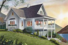 House Plan Design - Country Exterior - Rear Elevation Plan #23-2367