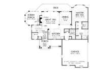 Traditional Floor Plan - Main Floor Plan Plan #929-910