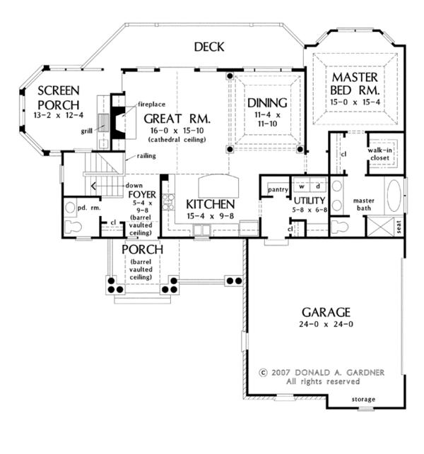 Traditional Floor Plan - Main Floor Plan #929-910