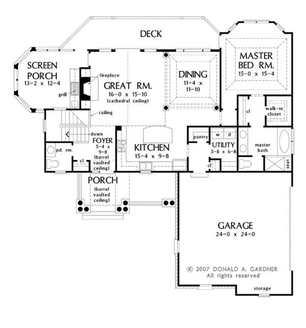 House Plan Design - Traditional Floor Plan - Main Floor Plan #929-910