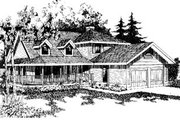 Country Style House Plan - 3 Beds 2.5 Baths 2098 Sq/Ft Plan #60-140 Exterior - Front Elevation