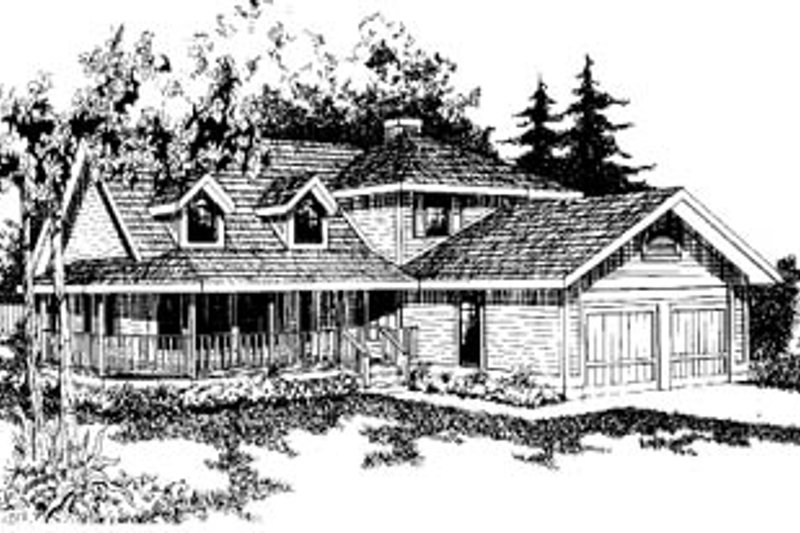 Country Exterior - Front Elevation Plan #60-140 - Houseplans.com