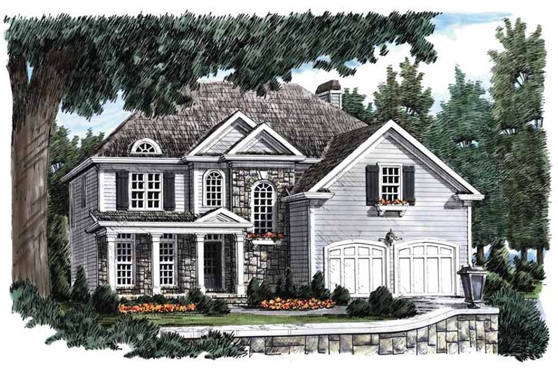 Architectural House Design - Colonial Exterior - Front Elevation Plan #927-649