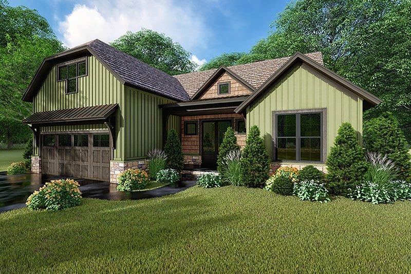 Dream House Plan - Farmhouse Exterior - Front Elevation Plan #923-153
