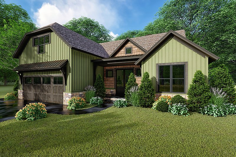 Farmhouse Exterior - Front Elevation Plan #923-153