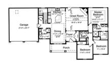Craftsman Floor Plan - Main Floor Plan Plan #46-840