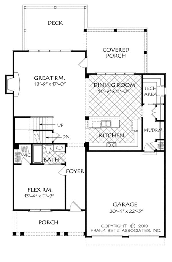 Home Plan - Traditional Floor Plan - Main Floor Plan #927-962