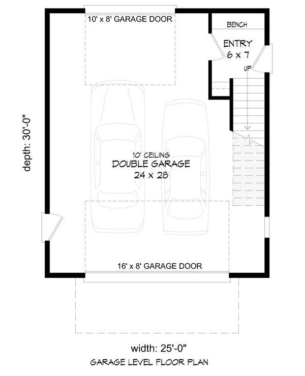 Contemporary Floor Plan - Main Floor Plan Plan #932-295