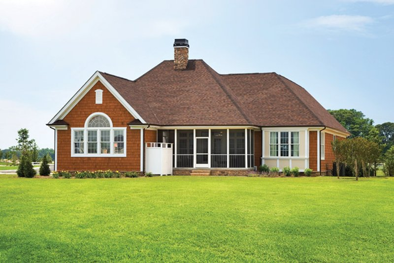 Country Exterior - Rear Elevation Plan #929-694 - Houseplans.com