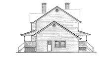 House Plan Design - Victorian Exterior - Other Elevation Plan #47-847