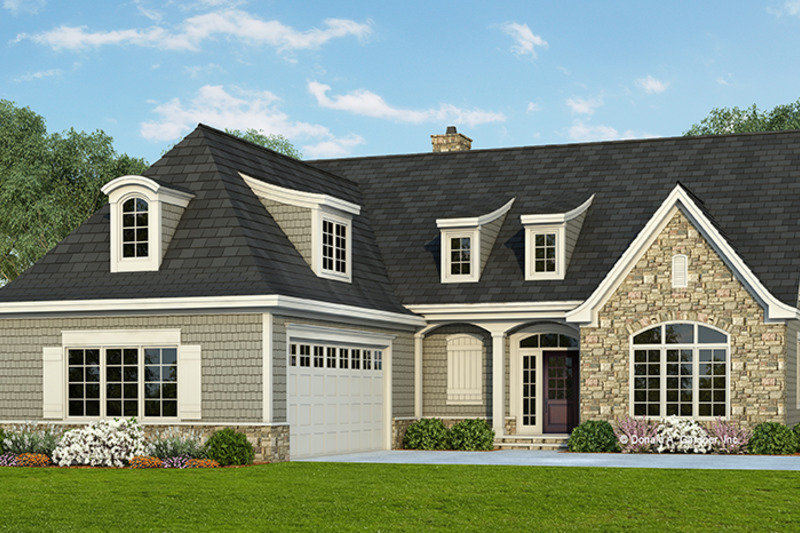 Cottage Exterior - Front Elevation Plan #929-960 - Houseplans.com