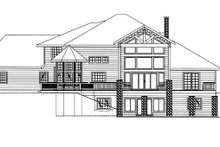 Contemporary Exterior - Rear Elevation Plan #117-844