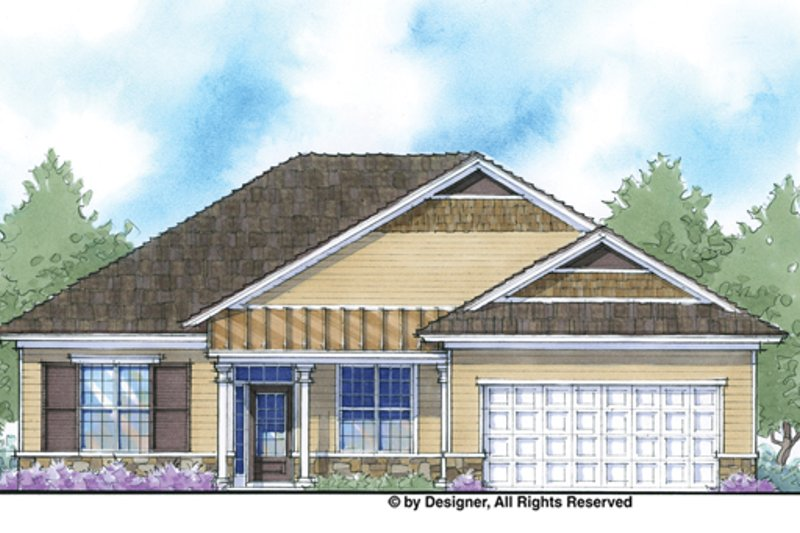 Country Exterior - Front Elevation Plan #938-71