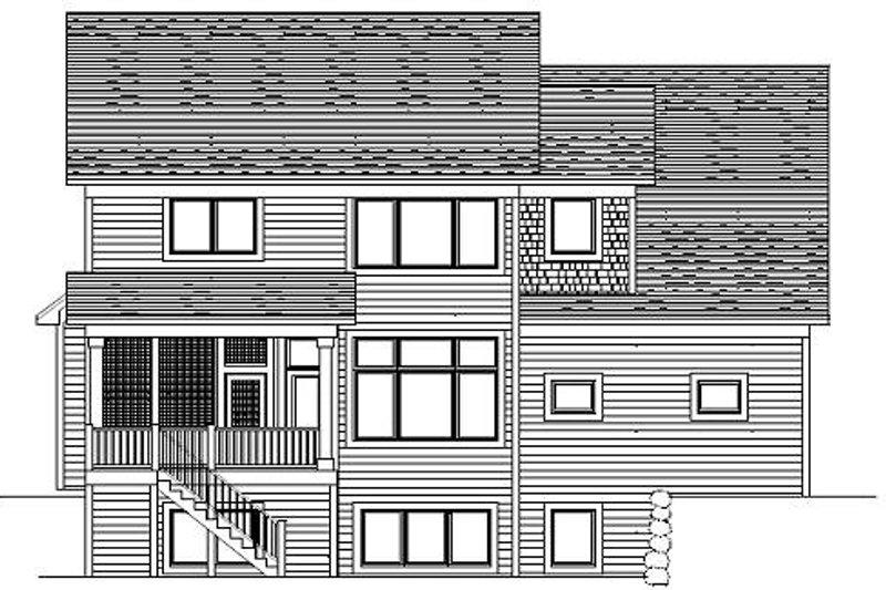 Craftsman Exterior - Rear Elevation Plan #51-365 - Houseplans.com