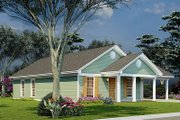 Traditional Style House Plan - 3 Beds 2 Baths 1025 Sq/Ft Plan #923-216