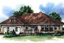 Mediterranean Exterior - Front Elevation Plan #18-1005