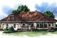 Architectural House Design - Mediterranean Exterior - Front Elevation Plan #18-1005