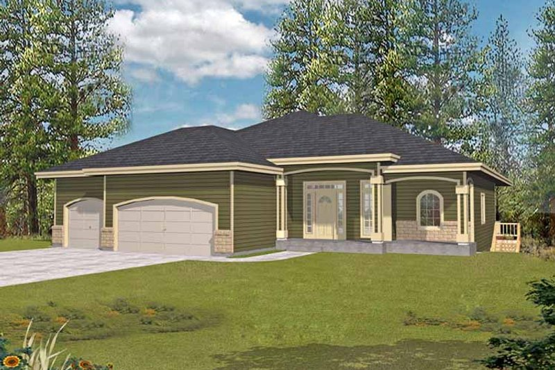 Traditional Exterior - Front Elevation Plan #1037-43 - Houseplans.com