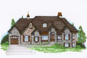 European Style House Plan - 6 Beds 4.5 Baths 2360 Sq/Ft Plan #5-278 Exterior - Front Elevation